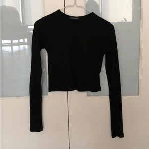 Long sleeve thermal crop top